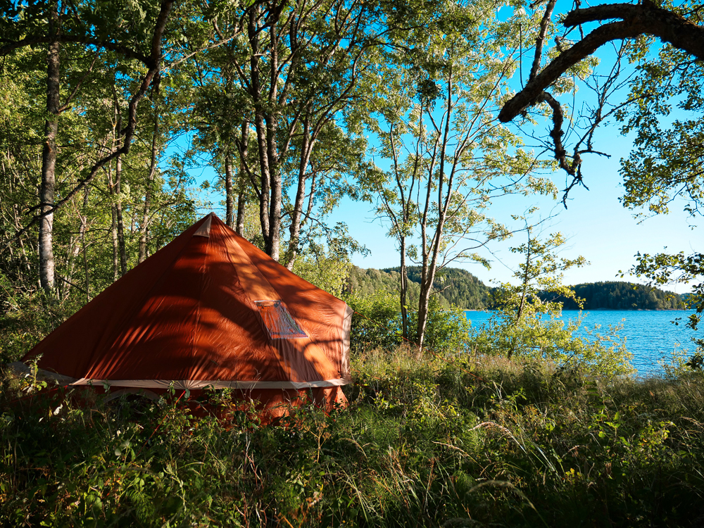 Tent camping in Sweden