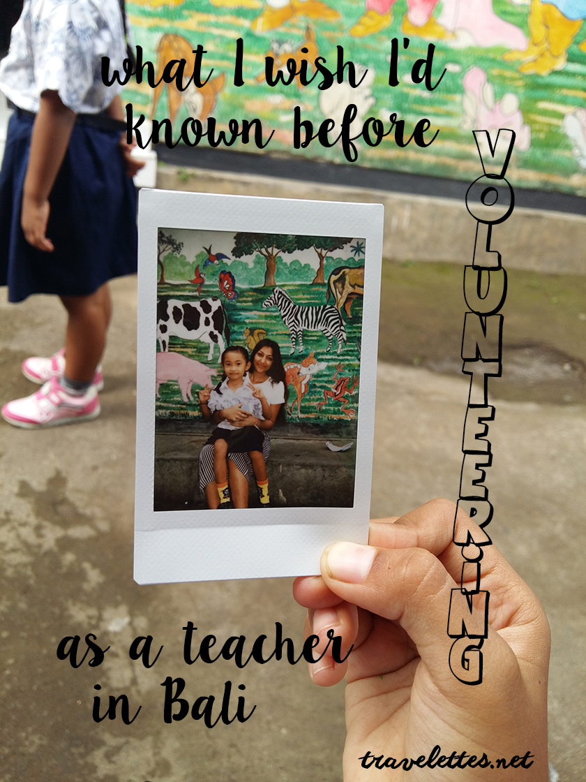 What I wish I'd known before volunteering as a teacher in Bali