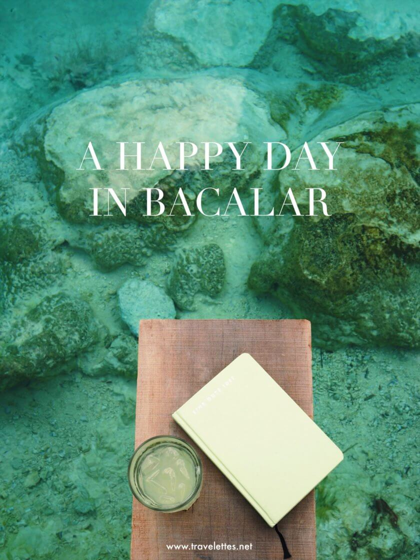 A happy day in Bacalar, Mexico