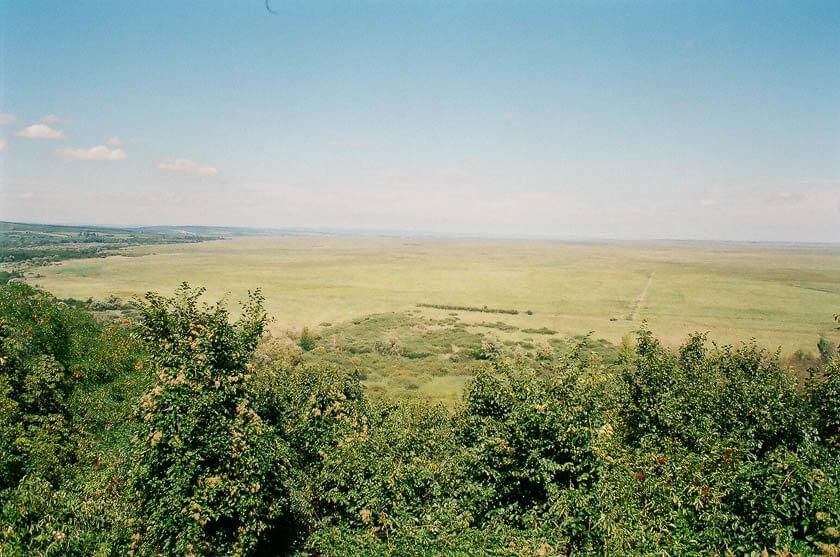 The view over Lake Neusiedl from the Gloriett in Fertoboz, Hungary.