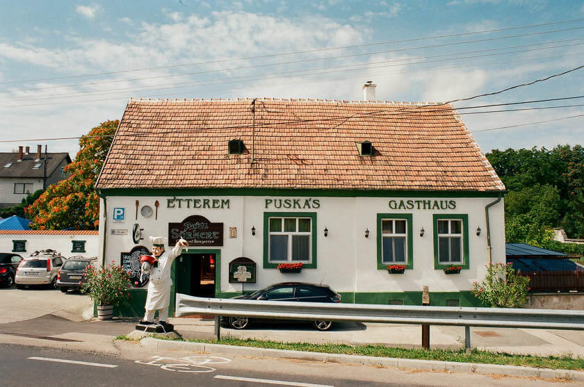 A traditional restaurant on the Hungarian side of Lake Neusiedl.
