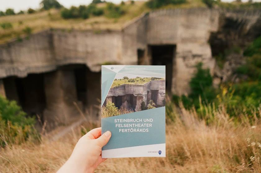 The limestone quarry in Fertorakos in Hungary.