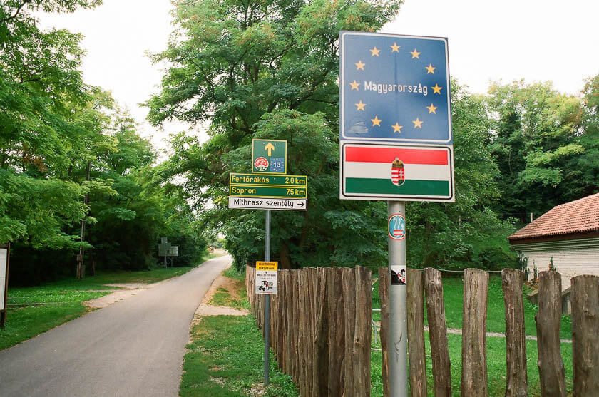 The Austrian-Hungarian border by Lake Neusiedl.