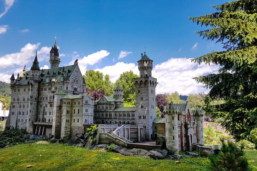 A model of Castle Neuschwansteinat Minimundus in Austria
