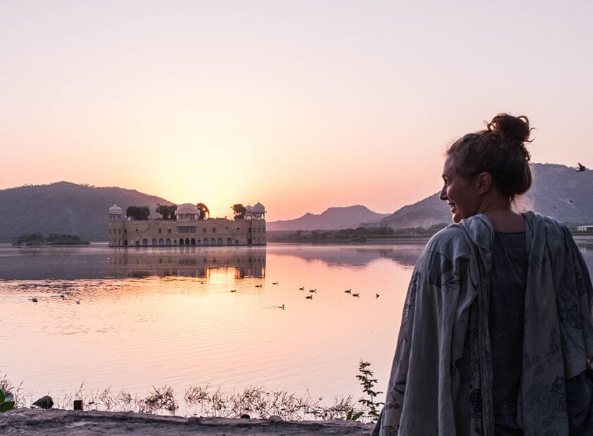 Sunrise at Jal Mahal, India