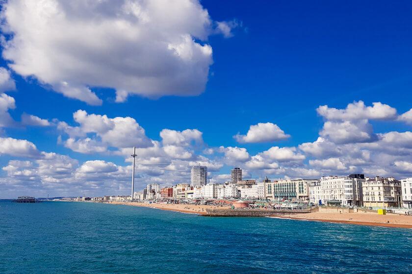 skyline of brighton from brighton pier