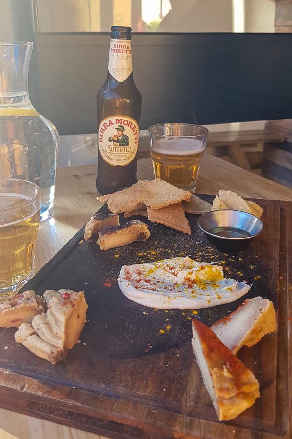 vegan cheese board at purezza in brighton