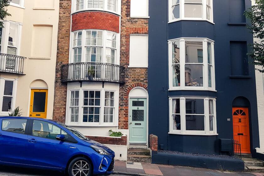 colourful doors in kemptown