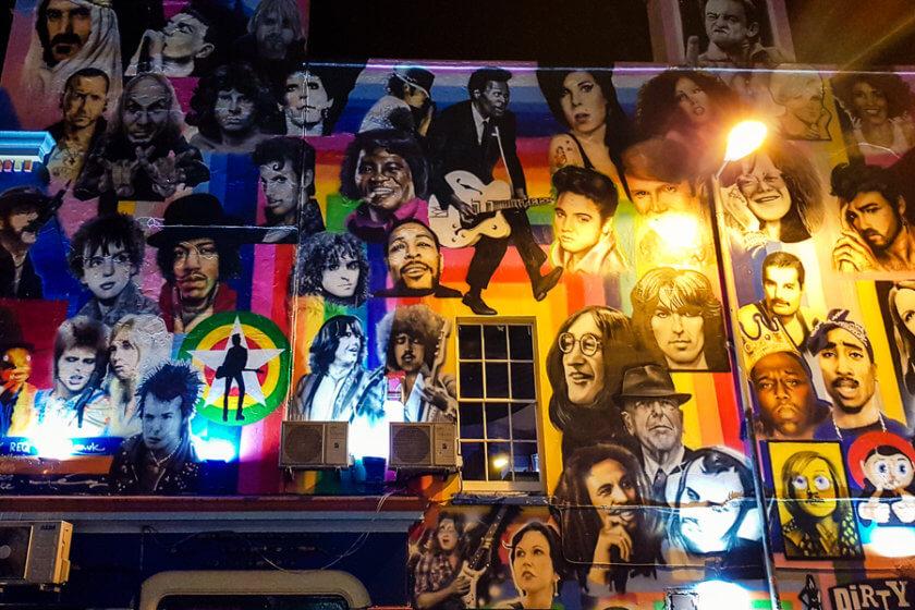 musician mural at the prince albert pub in brighton