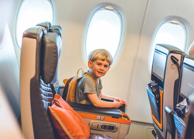 Top 10 tips for flying with small children