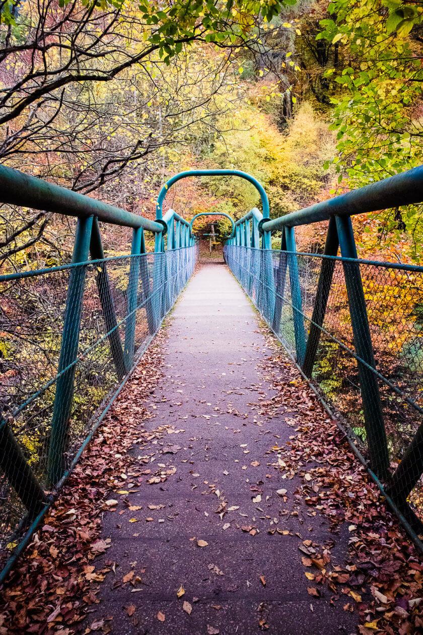Footbridge over the river Garry.