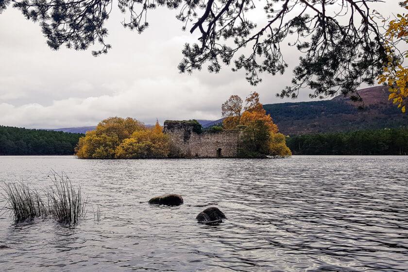 The castle ruin at Loch an Eilein.