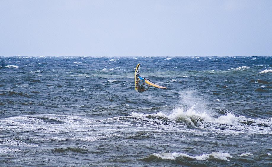 Wind surfing in Poland