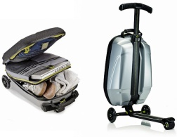 The suitcase scooter for the busy girl
