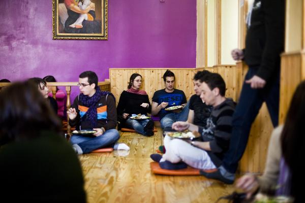 Madrid: veggie lunching with the Hare Krishna
