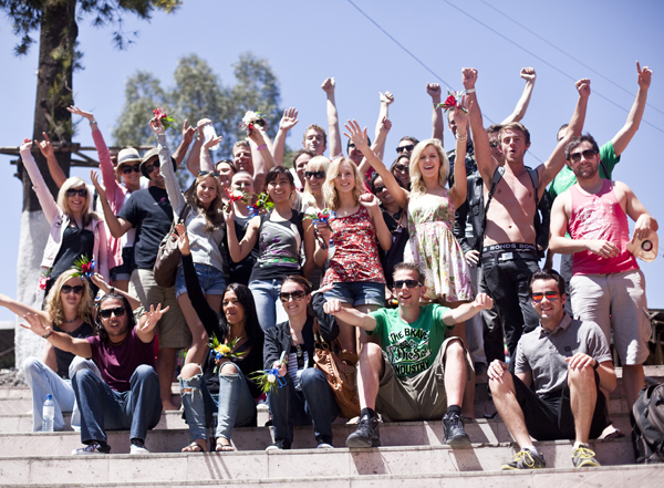 Group travel though Mexico with Contiki