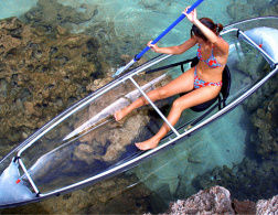 The see-through canoe