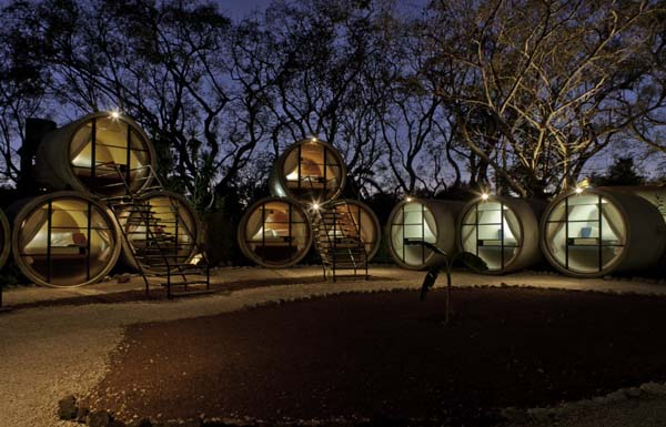 Sleeping in tubes - recycled hotels