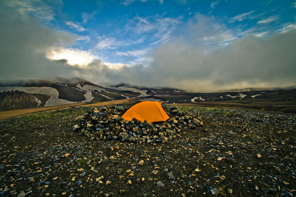 Tent in Iceland