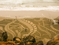 The sand art of Andres Amador
