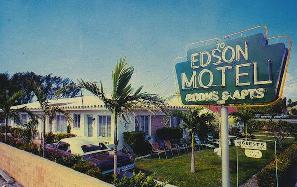 Retro motel glamour