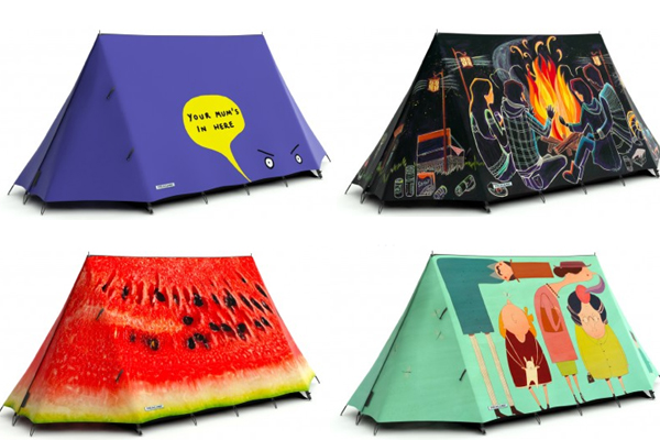 Field Candy - tents designed to stand out