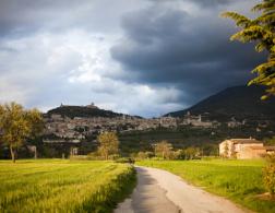 Bike ride through Assisi
