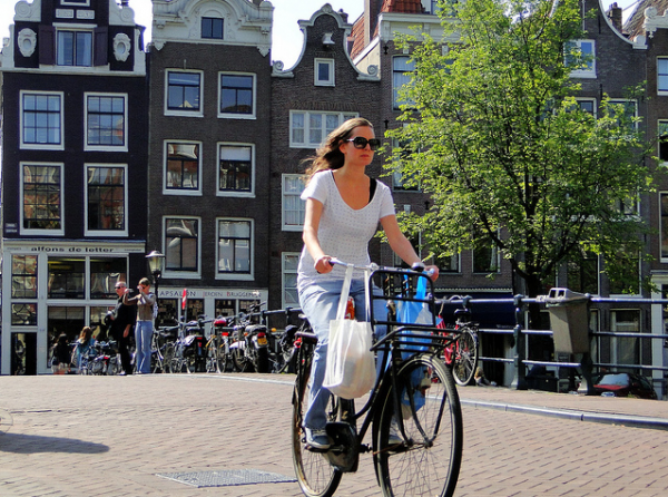 Girl on Bike Amsterdam