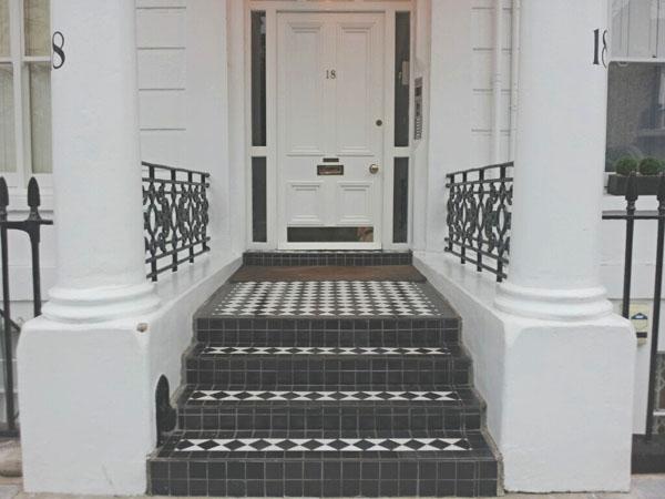 Black and White Door