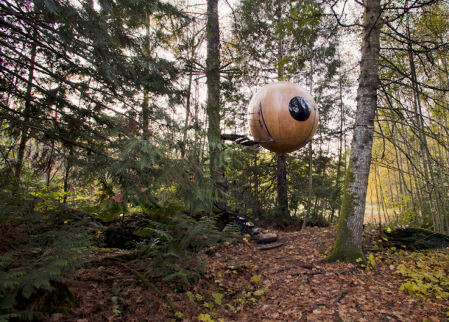 Sleeping in trees - Free Spirit Spheres