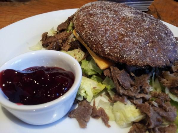Reindeer Burger at Cafe Milli