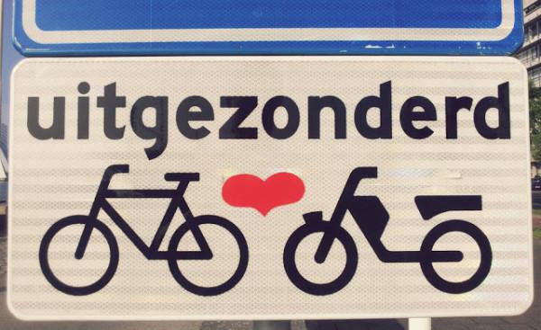 Heart Bikes Sign Rotterdam