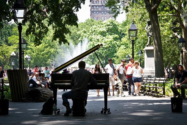 The Piano Man of New York City