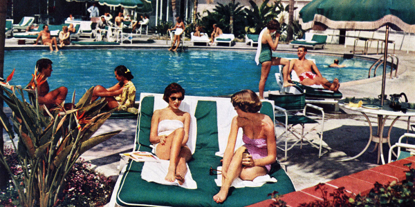 Hotel Bel Air pool 1951