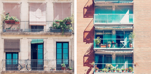 Windows and Balconies in Barcelona