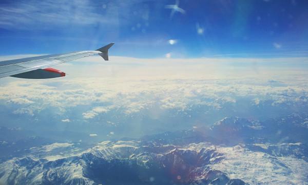 Flying over Austria