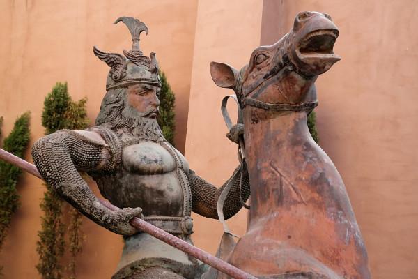 Statue at Selman
