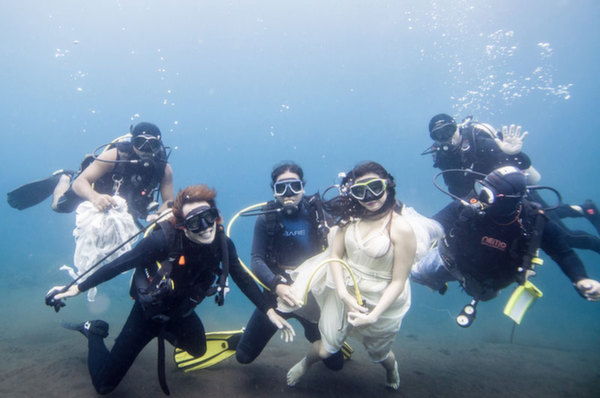 Diving with mermaids in Bali