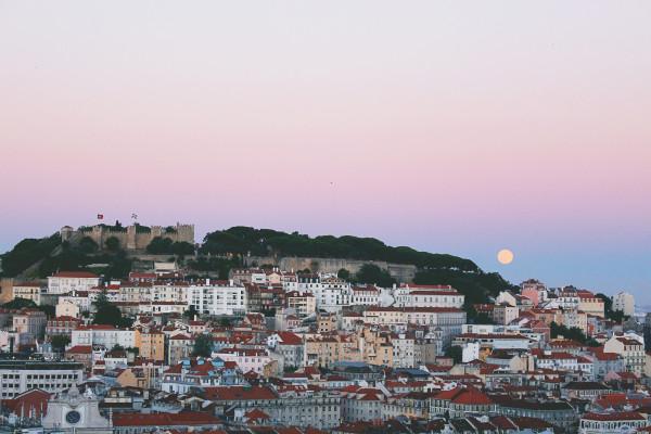 Supermoon in Lisbon