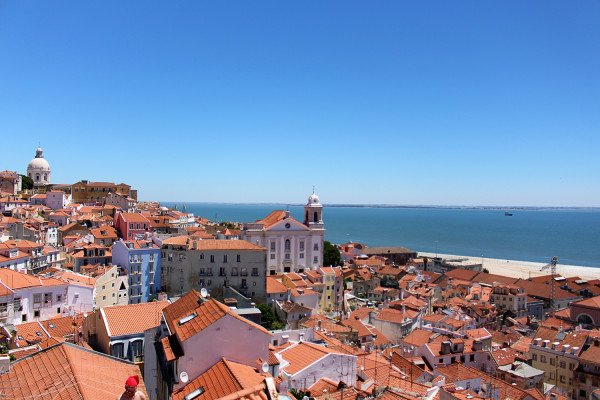View of Lisbon from Porto do Sol