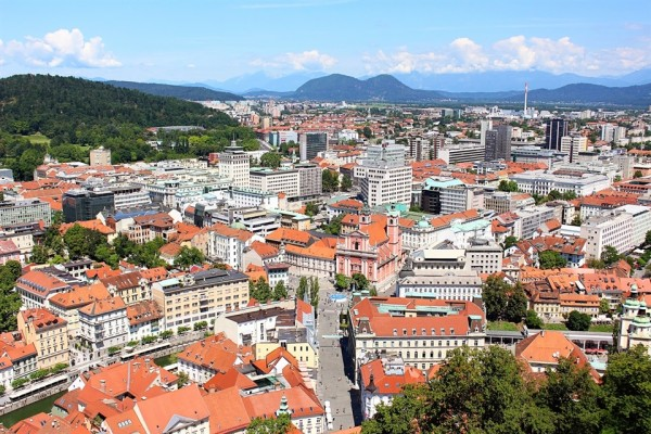 view of ljubljana from castle_x960