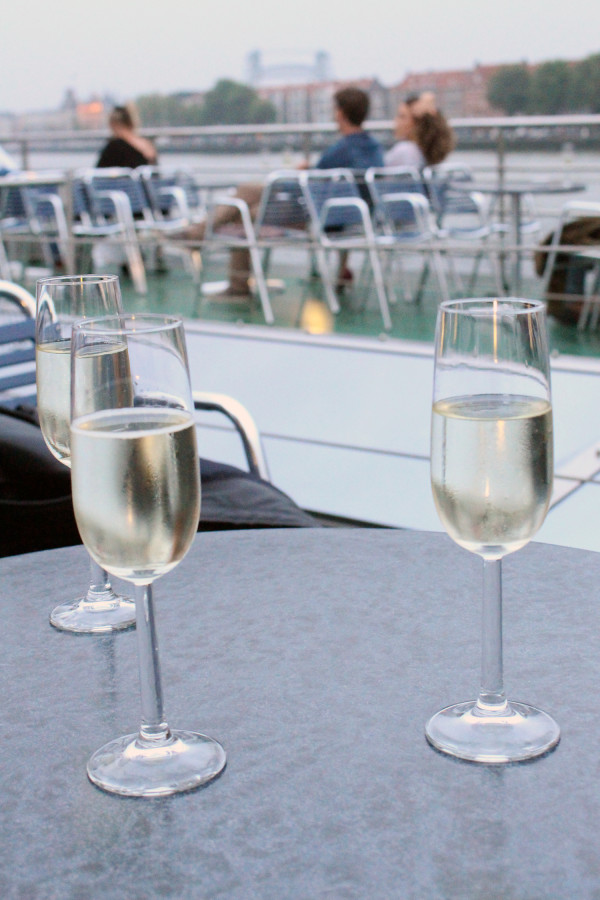 Champagne as part of Djazz Cruisezz with Spido