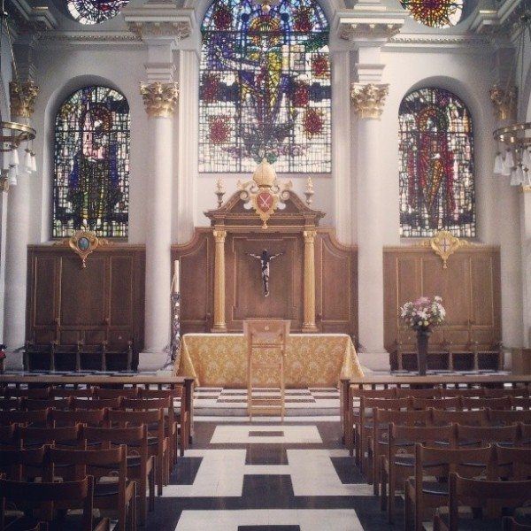 Inside St Mary Le Bow Church by Frances M Thompson