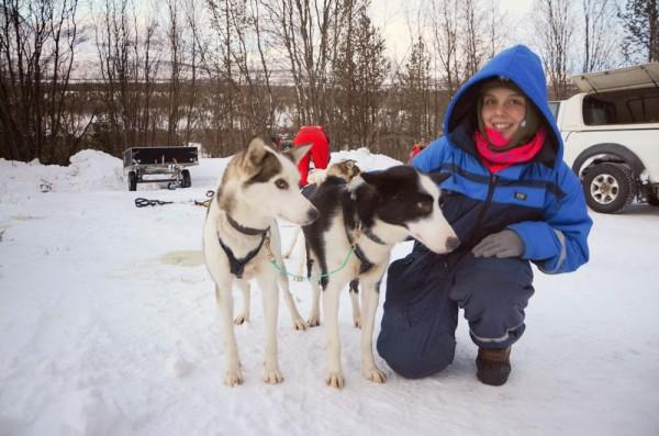 Frankie with Husky Dogs - Frances M Thompson