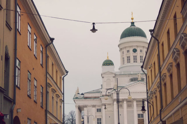 Helsinki Cathedral by Frances M Thompson