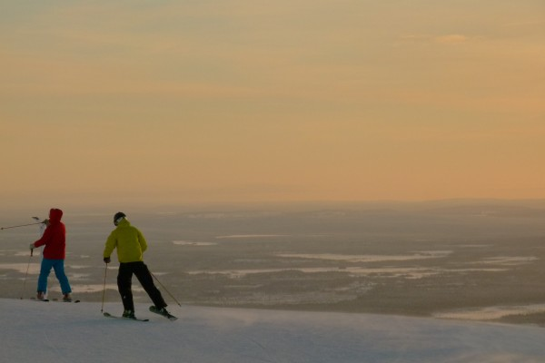 Skiing in Yllas - Frances M Thompson