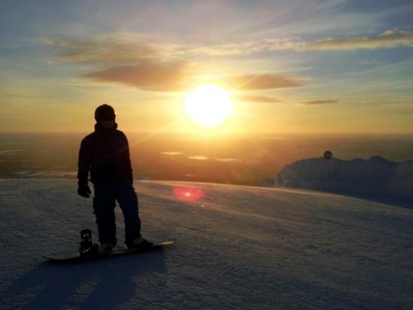 Snowboarding in Yllas - Frances M Thompson