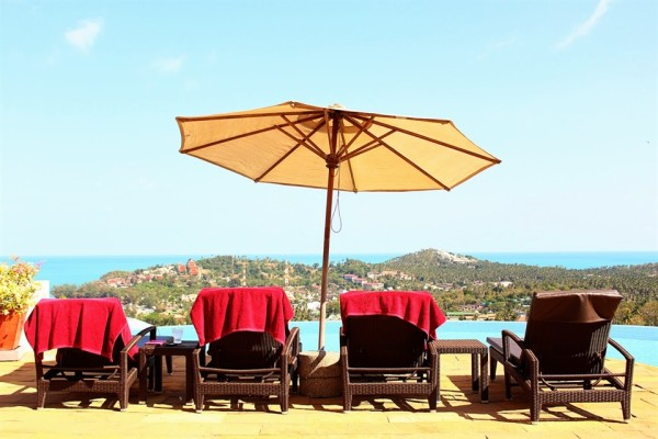 by the pool in koh samui - signs of a good holiday - Frances M Thompson