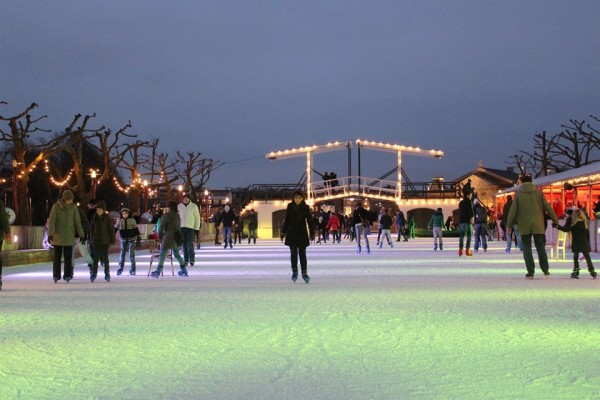 ice skating museumplein by Frances M Thompson