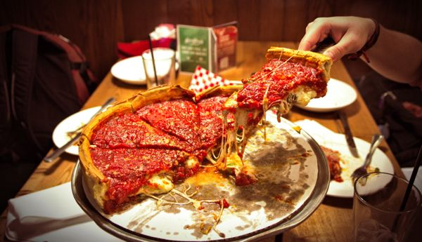 Cool Things to do in Chicago in Winter - Emily Perkinson - Pizza